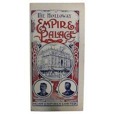 The Holloway Empire & Palace Theatre, Islington London, - Programme  July 1906