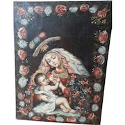 Our Lady of The Milk - Oil on Canvas Peru Circa 1920