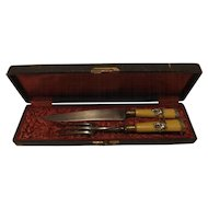 Superb 'Chic' French Carving Set Circa 1900-1930