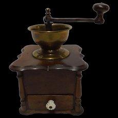 19th Century Large Belgium Coffee Grinder - Circa 1890