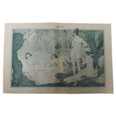 Risque French Cartoon - Sourire Magazine 1921