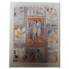 Risque French Cartoon 'Une Galerie D'Ancetres - Sourire Magazine 1931