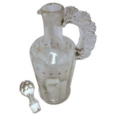 Beautiful Hand Blown & Decorated Victorian Decanter
