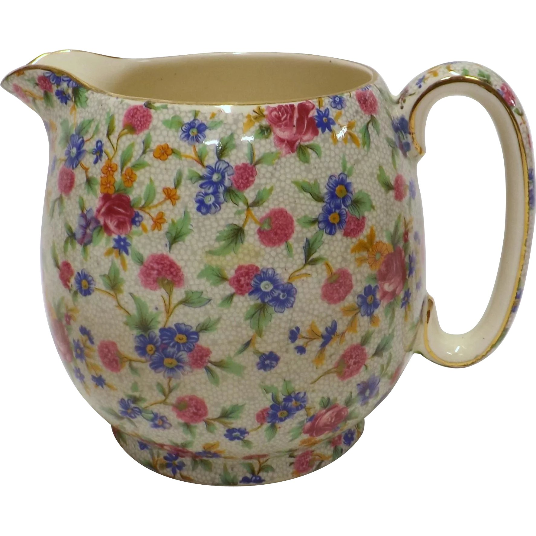 Royal Winton Milk Jug Old Cottage Chintz Antique