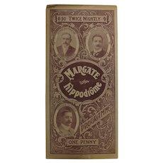 Theatre Program -  Margate Hippodrome 1907
