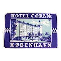 Two Original European Hotel Baggage Stickers