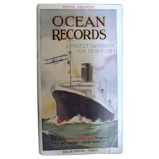 1923 Edition of Ocean Records - World Traveler Magazine