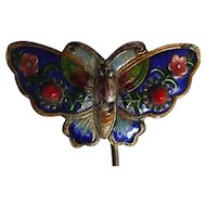 "Gorgeous Art Deco Era ""Butterfly"" Hat Pin"