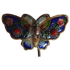 "Gorgeous Art Deco Era ""Butterfly"" Hat Pin"