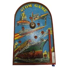 ATOM  Table Top Pin Ball Game Circa 1960