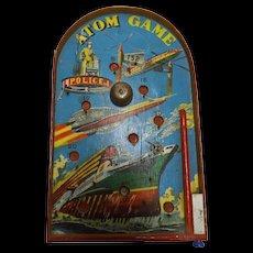 ATOM  Table Top Pin Ball Game Circa 1960