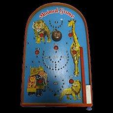 Retro 1960's small Pin Ball Game - Animals