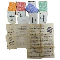 ORIGINAL WW11  Aircraft Recognition Silhouette Cards - Set of Four Packs