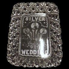 Queen Victoria Silver Wedding Commemorative Cut Glass Bowl - 1888