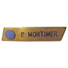 Pan Am Airlines Staff Name Badge