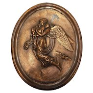 Early to Mid Victorian Allegorical Religious Plaque