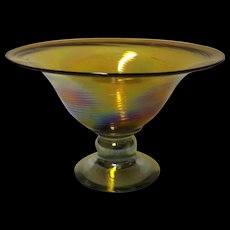 Fantabulous Large Venetian Art Glass Fruit Bowl or Compote.