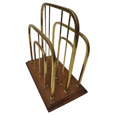 Victorian  Arts & Crafts Magazine Rack By William Tonks & Son