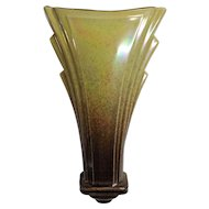 Royal Winton Wall Vase - Mottled Yellow & Brown Circa early 1950's
