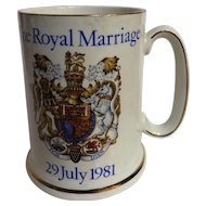 British Royalty Commemorative Tankard - Marriage HRH Prince of Wales and Lady Diana Spencer