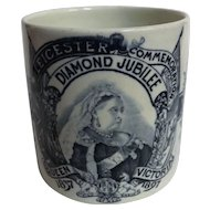 Queen Victoria 1897 Diamond Jubilee Commemorative Tankard - Leicester
