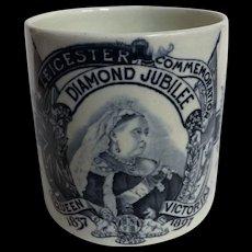 Queen Victoria 1897 Diamond Jubilee Commemorative Tankard - Leicester