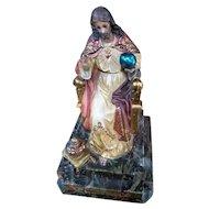 Jesus Christ Statuette - OLOT Spain Circa 1900