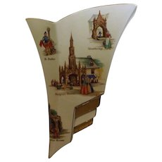 Royal Winton Wall Vase - Old English Markets - Circa early 1950's
