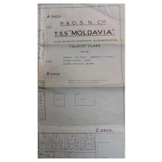 T.S.S. Moldavia Deck Plans - P & O S.N.Co 1935