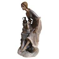 Lladro NAO Large Figurine 'Girl With Water Jugs'