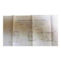 R.M.S. Tainui Deck Plans  - Shaw Savill & Albion 1914