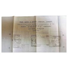 R.M.S. Tainui Deck Plans  - Shaw Savill & Albion 1914