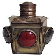 Masthead Lamp from Old Valparaiso Ferry Boat - Chile Circa 1900