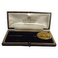 Victorian 9 Carat Gold Stick Pin - Dated 1890