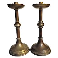 A Pair of Arts & Crafts Candlesticks - Circa 1890 - 1900