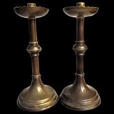 A Pair of Arts & Crafts Candlesticks - Circa 1890 - 1900
