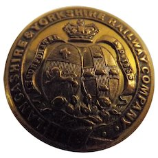 Lancashire & Yorkshire Railway  Gilt Brass Tunic Button