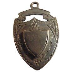 Edwardian Sterling Silver FOB Pendant -1908
