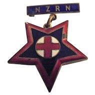 New Zealand Registered Nurses Badge - 1907