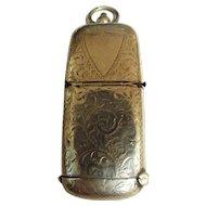 Edwardian Sterling Silver Dual Vesta Case & Sovereign Holder