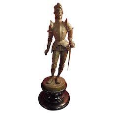 Conquistador Large Bronze - France Circa 1910 -1920