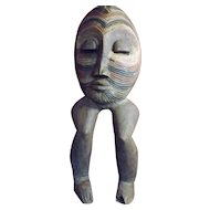 Unusual Old Papua New Guinea Ancestor Figure - Circa Early to Mid 1900's