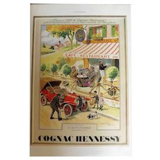 L'Illustration Original 'Cognac Hennessy' Advertisement 1939