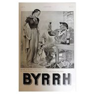L'Ilustration French Magazine Original BYRRH Aperitif DECO Advertisement 1938