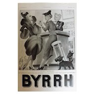 L'Ilustration French Magazine Original BYRRH Aperitif DECO Advertisement 1937