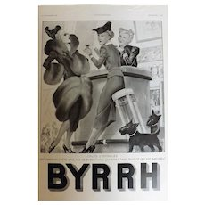 L'Ilustration French Magazine Original BYRRH Aperitif DECO Advertisement 1937