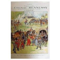 L'Ilustration French Magazine Original Hennessy Cognac DECO Advertisement 1937