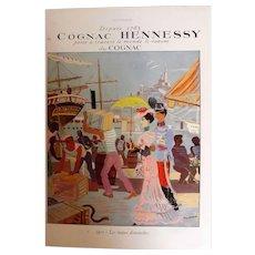 L'Illustration French Magazine Original  Cognac HENNESSY DECO Advertisement 1937