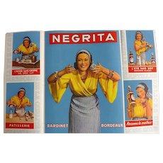 L'Illustration French Magazine Original  NEGRITA RHUM Deco Advertisement 1937