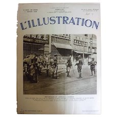 L'IIlustration French Magazine Original  FRONT COVER 1937 - Japanese Invasion of China